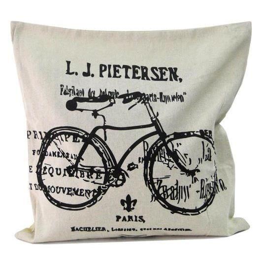 Housse de coussin vélo ancien Paris rétro vintage   Achat / Vente