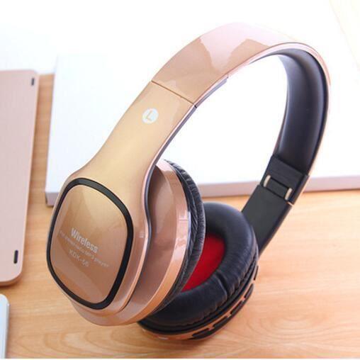 Caldecott Sans Fil Casques Bluetooth Casque Avec Microphone Soutien Tf Carte Radio Fm Pour Mp3 Téléphones Portables