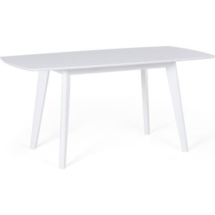 160 Table 120 De Cm Blanc Sanford Extensible Cuisine 3TFKcuJl1