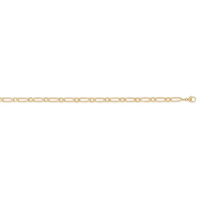 DIAMANTLY Collier or 750/1000 cheval ultra-plate alterne 4 mm - 50 cm