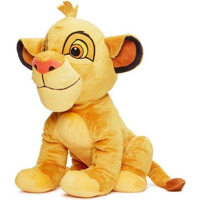 PELUCHE LE ROI LION Peluche Simba - 50 cm - Disney Animaux
