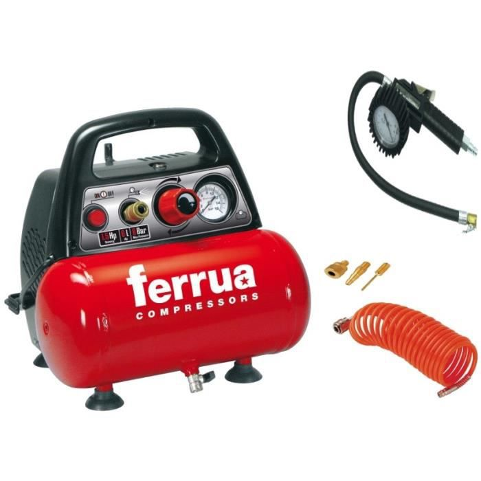 COMPRESSEUR FERRUA Compresseur d'air avec accessoires de gonfl