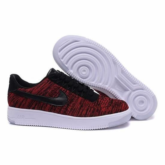Nike Air Force 1 Flyknit Basse Baskets Chaussures Mixte Noir
