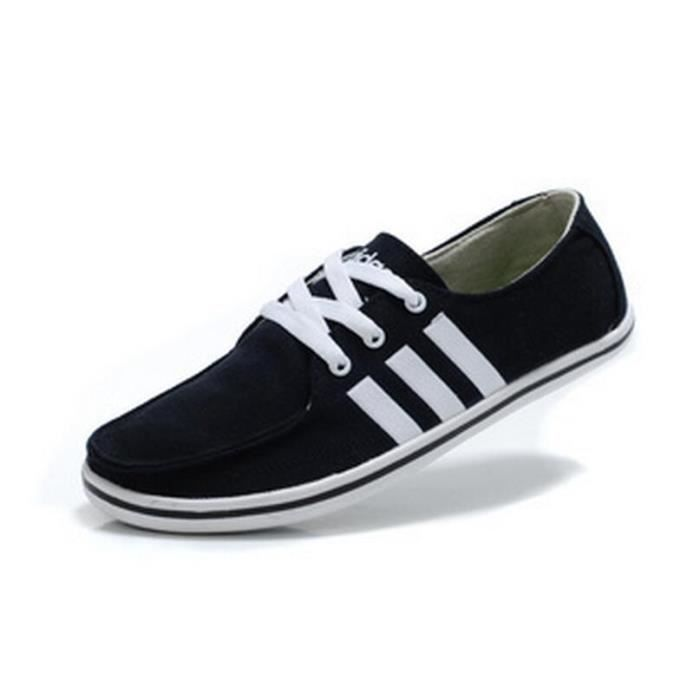 Toile Chaussures Taille Noir Et Adidas Basket Homme 39 Running Blanc CWxdeBro