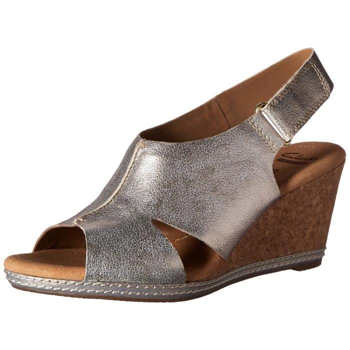 Clarks hélio des femmes sandale de cale flottante TZBAT