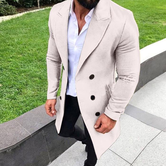 Et Homme Trench Long Hiver Bouton Automne Nouveau Outwear rrqw6OUE