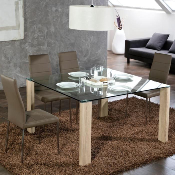 Table De Repas Carrée Pieds Bois Grissam L 130 X L 130 X H 75 Cm