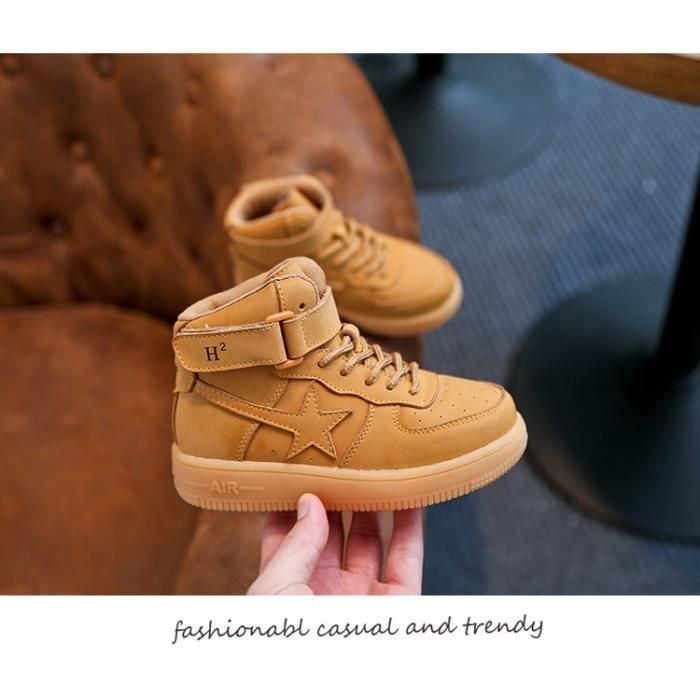 Basket Les enfants unisex tombent et les chaussures de sport décontractées en cuir d'hiver Xh9rSDq
