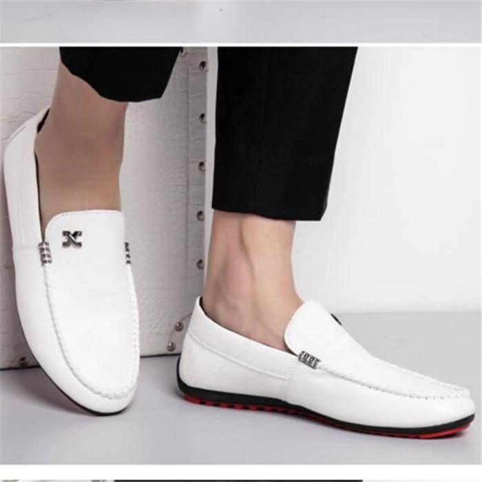 Antidérapant qualité Durable Grande Confortable Nouvelle Marque hommes Taille Chaussures homme De De Haut arrivee Moccasin Luxe 4AwvBTZ