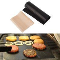 FEUILLE DE CUISSON  2pcs pad téflon BBQ mat grill maillages pour les o