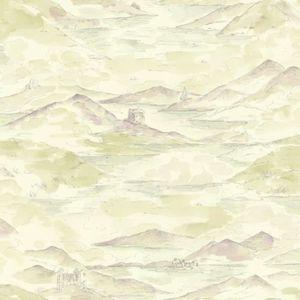Arthouse Papier Peint Effet Aquarelle Motif Chateau De Campagne Rose