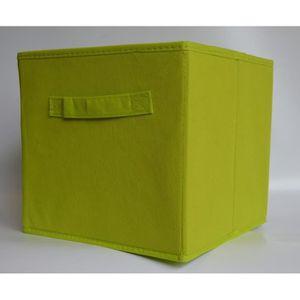 BOITE DE RANGEMENT Panier cube de rangement pliable vert