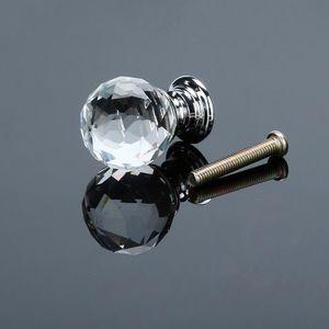 POIGNÉE - BOUTON MEUBLE Poignée de porte Round Diamond 20mm Diamond Crysta