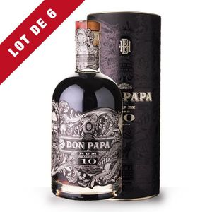 RHUM 6x Don Papa 10 ans Small Batch 70cl - Canister - 6