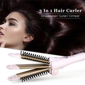 FER A FRISER Fer à lisser Pince à friser les cheveux Bigoudi Br