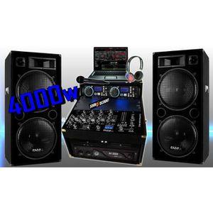 PACK SONO PA DJ  PACK SONO COMPLÈTE 4000W + 2 ENCEINTES SONO