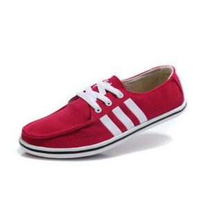 chaussure adidas en toile homme rouge