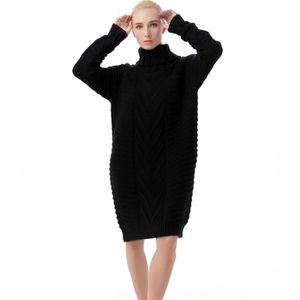 Robe pull col roule femme pas cher