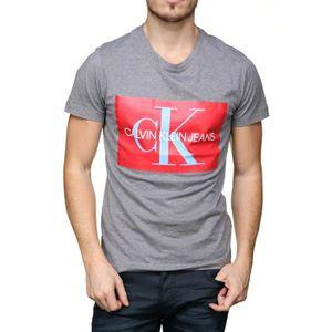 T-SHIRT Tee Shirt Calvin Klein J30j307843 Monogram Box ...