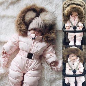 1b419a426230 Ensemble de vêtements Hiver infantile bébé garçon fille barboteuse veste