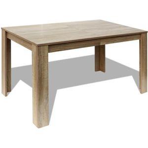 TABLE À MANGER SEULE vidaXL Table de salle à manger 140 x 80 75 cm chên