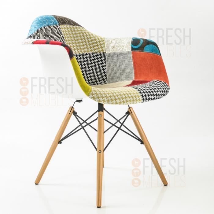 Souvent Fauteuil inspiration DAW patchwork - Achat / Vente chaise - Cdiscount HY02