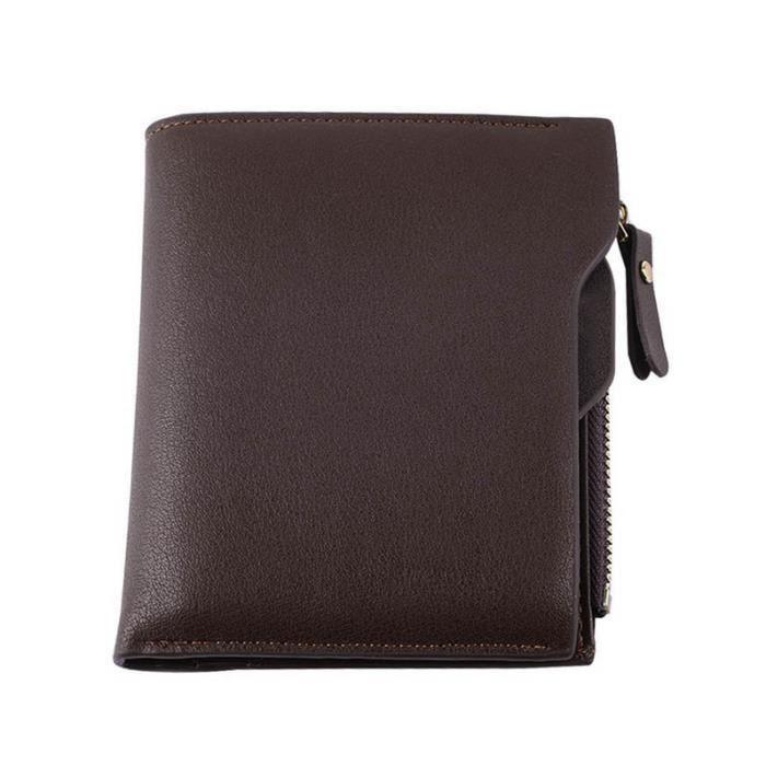Portefeuille homme identite noir portefeuille etui cuir porte carte credit visite d identite id homm - Portefeuille porte carte homme ...
