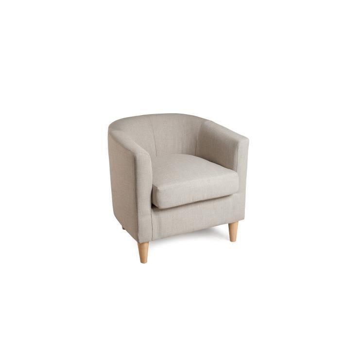 pragues fauteuil cabriolet classique en tissu beige achat vente fauteuil beige structure en. Black Bedroom Furniture Sets. Home Design Ideas