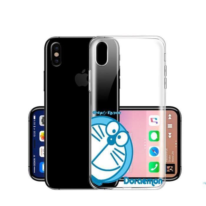 9876fba8bc813 Coque Pour Apple iPhone X Doraemon bleu doux TPU - Achat coque ...