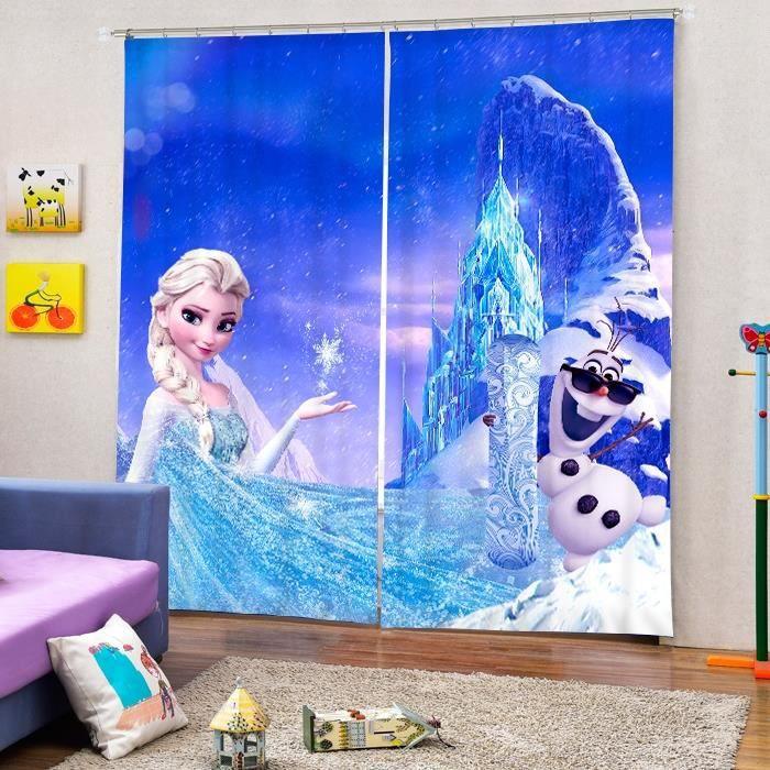 Rideaux reine de neige Elsa et Olaf 3D effect l'ombrage 118