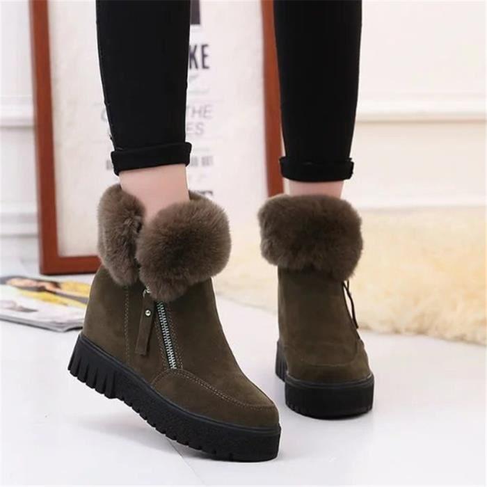 Chaussures AntidéRapant De Bottine Bottines Mode de Plus Loisirs Femme Les Nouvelle Femmes Chaussures doublure en laine wX7gq6I