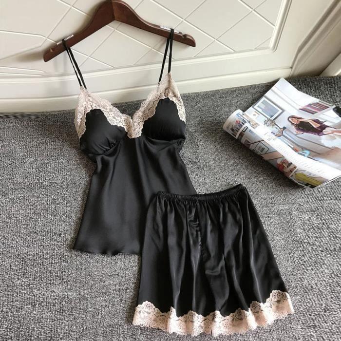 De Femmes Nuit Motif Impression 2pc Vêtements Set Pyjama RBF1WqR