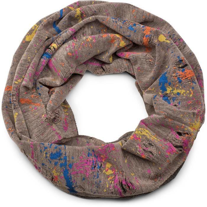 StyleBREAKER écharpe ronde avec motif tâche de couleur, style ... ac9b079853f