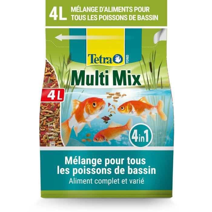 Tetra Aliment Complet - Mix De 4 Aliments Variés Pond Multimix L Pour Poisson Bassin