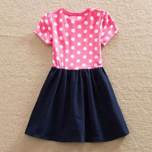 61b50b81146 ... ROBE Robes Enfant Fille Broderie Manches Courtes Coton ...