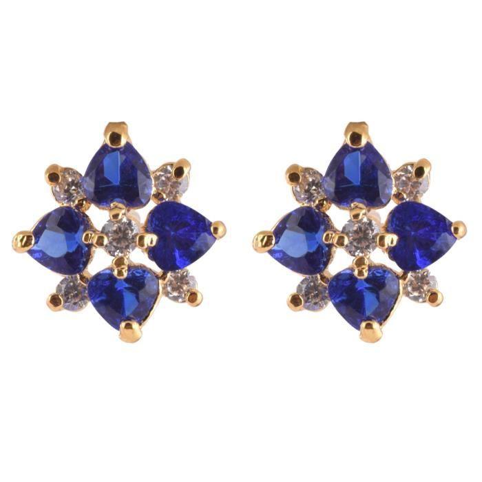 Femmes Bleu 1 gramme dor plaqué pendentif pourGTSA3