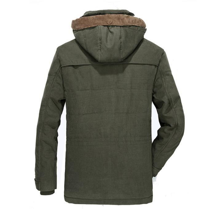 Armée Multiples Vêtement Verte Homme Masculin À Marque Hommes Capuche De Poches Doudoune xP4qTXR4