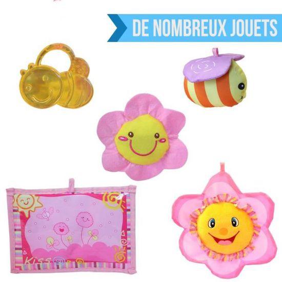 a7efa015a77365 Tapis d éveil bébé éducatif et musical + jouets - Flower Rose - Achat    Vente tapis éveil - aire bébé 3662348001285 - Cdiscount