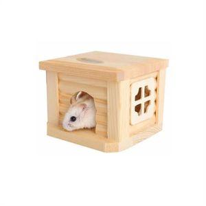 CORBEILLE - COUSSIN PETACC Hamster Maison en bois pour petits animaux