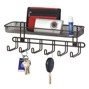 ÉTAGÈRE SOUPLE Boîte à clés mDesign avec casier du courrier en no