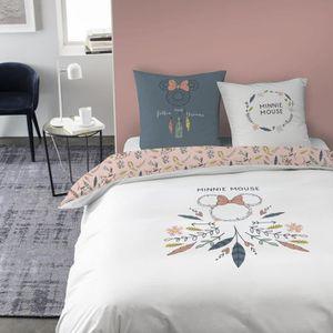 HOUSSE DE COUETTE SEULE Parure de lit enfant en coton Disney Minnie - Tail