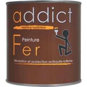 PEINTURE - VERNIS Peinture Addict fer Addict - 0,5 l - Noir mat