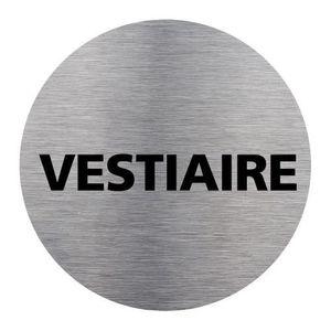 MEUBLE D'ENTRÉE Plaque d'Information -       Vestiaire - Aluminium
