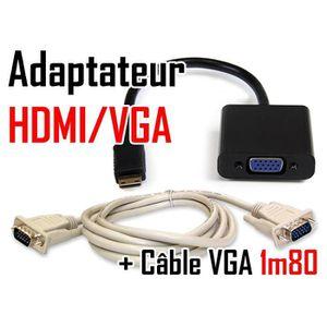 CÂBLE AUDIO VIDÉO VSHOP® Adaptateur convertisseur HDMI® vers VGA 192