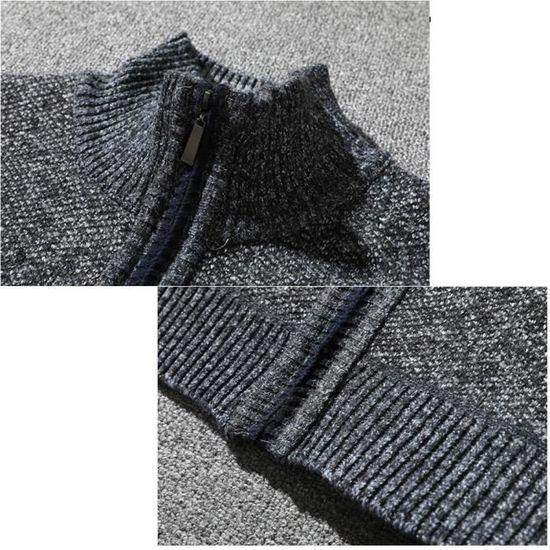 Manteau Rw4967 Pied Glissière Veste Coton Épais À Chaud D'hiver Fermeture Tricot Hommes qw7PXY7