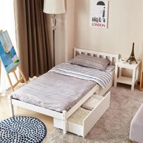 lit simple avec tiroir la redoute leader du style la franaise sur la mode femme homme enfant et. Black Bedroom Furniture Sets. Home Design Ideas