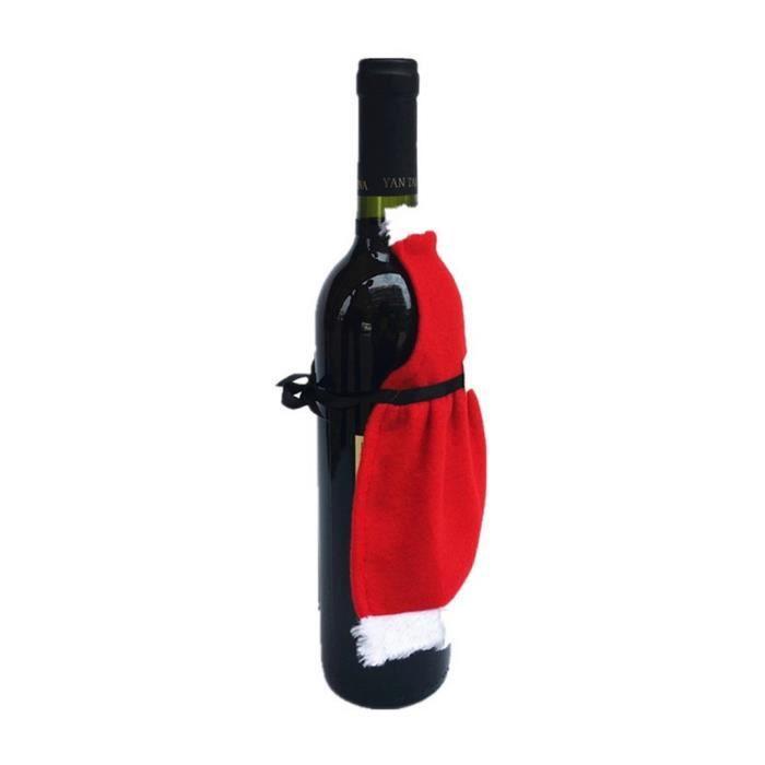 noël déguisement accessoire housse couverture pour bouteille de vin