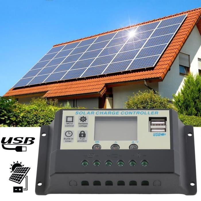 10A 12V 24V panneaux solaires contrôleur de charge de la batterie 10Amps  régulateur de la lampe f5d3e0aef8b8