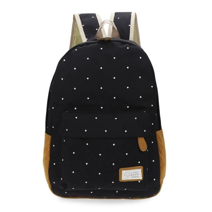 A Dos College Patchwork Dot À Toile Scolaire Voyage Sac 0PX8knwO