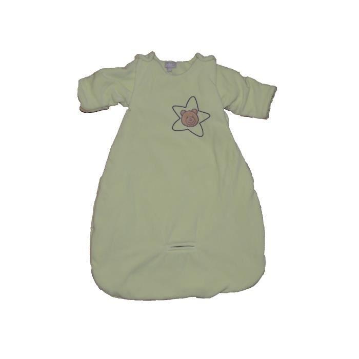 2ff127bc3424b Gigoteuse à manches amovibles naissance 6 mois bébé garçon fille douillette  auto en polaire chaud pour hiver mixte verte